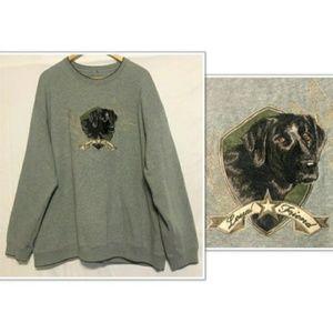 Croft & Barrow Embroidered Black Lab Sweatshirt